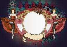 Танцоры Cancan иллюстрация штока