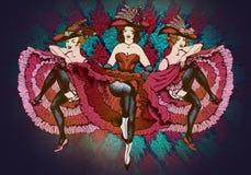 Танцоры Cancan бесплатная иллюстрация