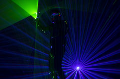 Танцор лазера диско стоковые изображения