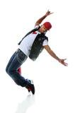 танцор афроамериканца Стоковые Изображения RF