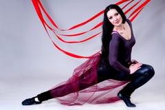 танцор балерины вверх по теплому Стоковое фото RF