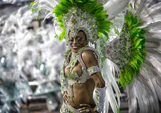 Танцор Бразилия самбы музы масленицы Стоковые Изображения RF
