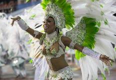 Танцор Бразилия самбы музы масленицы Стоковая Фотография