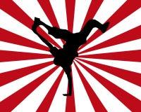 танцор взрыва Стоковые Изображения