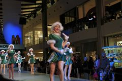 Танцор выставки рождества стоковое изображение