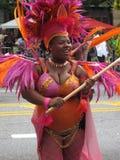 Танцор в карибском параде Стоковые Фото