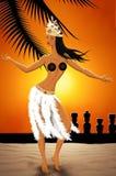 Танцор в острове пасхи Стоковое Изображение