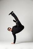 Танцор в официально износе стоя в замораживании Стоковые Фотографии RF