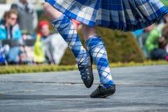 Танцор гористой местности на играх гористой местности в Шотландии Стоковые Фото