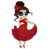 Танцор девушки на масленице иллюстрация штока
