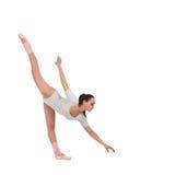 Танцор девушки одетый как балерина с красивой вуалью стоковые изображения