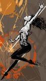 Танцор женщины стильный иллюстрация вектора