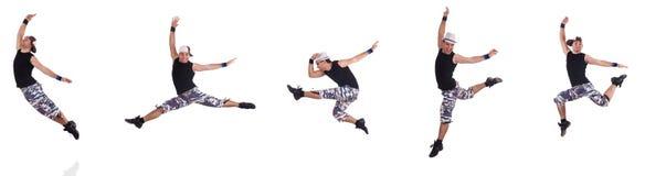 Танцор изолированный на белой предпосылке Стоковая Фотография