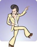 Танцор диско шаржа Стоковое Изображение
