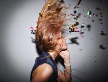 Танцор и confetti Стоковые Изображения RF