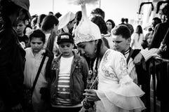 Танцор казаха фольклорный на день ` s национального суверенитета и детей - Турция Стоковое Изображение RF