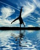 танцор колеса телеги балета немногая делает Стоковые Изображения