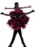 танцор пар cancan танцуя французская женщина человека Стоковая Фотография
