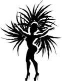 Танцор самбы иллюстрация вектора