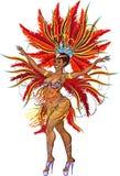 Танцор самбы Стоковая Фотография RF