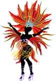 Танцор самбы Стоковое Изображение