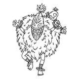 танцор соплеменный Изолированные предметы на белой предпосылке alien кот шаржа избегает вектор крыши иллюстрации Страницы расцвет бесплатная иллюстрация