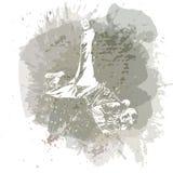 Танцор танца пролома на handcrafted брызгает предпосылку, современную предпосылку тенденции бесплатная иллюстрация