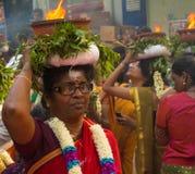 Танцор участвуя в фестивале Ganesh в Париже, Франции Стоковые Изображения