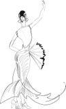 Танцор фламенко с вентилятором Стоковые Изображения RF