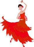Танцор фламенко Стоковые Фото