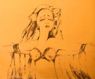 танцор экзотический иллюстрация вектора