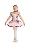 Танцор: Девушка одетая в костюме балета Стоковое Изображение