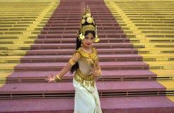 Танцор Apsara Стоковое Фото