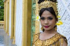 Танцор Apsara Стоковое Изображение