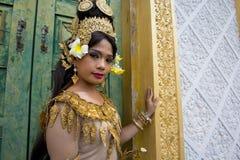 Танцор Apsara Стоковые Изображения