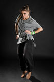 танцор bacground черный Стоковая Фотография