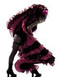 танцор cancan танцуя французская женщина Стоковые Изображения RF