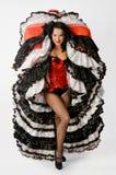 Танцор Cancan стоковые фотографии rf