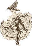 Танцор Cancan иллюстрация штока