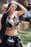 Танцор Faire ренессанса стоковые фотографии rf