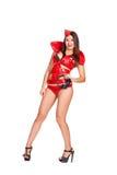 Танцор Glamor с наушниками стоковое изображение rf