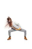 Танцор hip-hop девушки Стоковое фото RF