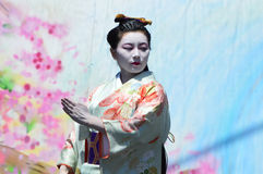 Танцор Kabuki Buyo Стоковое Изображение RF
