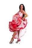 танцор latina Стоковые Изображения