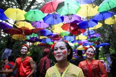 Танцор Reog Nirboyo Javanese группы