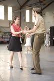 Танцулька актеров Второй Мировой Войны Стоковые Изображения RF
