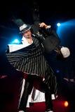 танцулька банкета выравнивая самомоднейшую выставку стоковая фотография