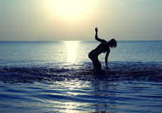 Танцулька в море Стоковое Изображение RF