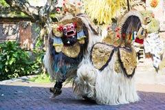 танцулька Индонесия barong bali стоковое изображение