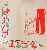 танцулька карточки иллюстрация вектора